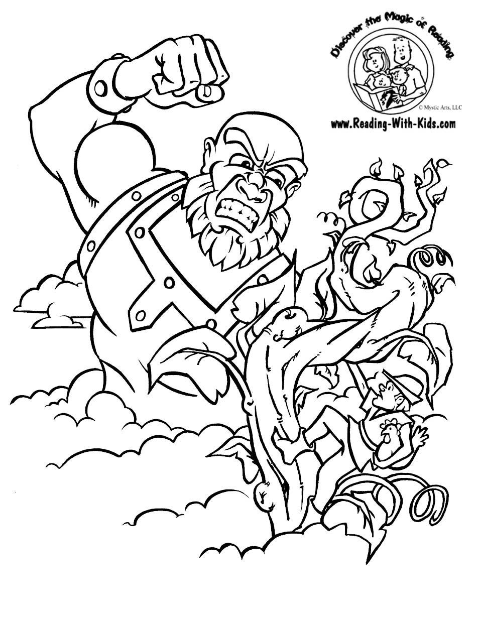 jack and the beanstalk colouring pictures jack and the beanstalk coloring pages coloring pages pictures the colouring and beanstalk jack