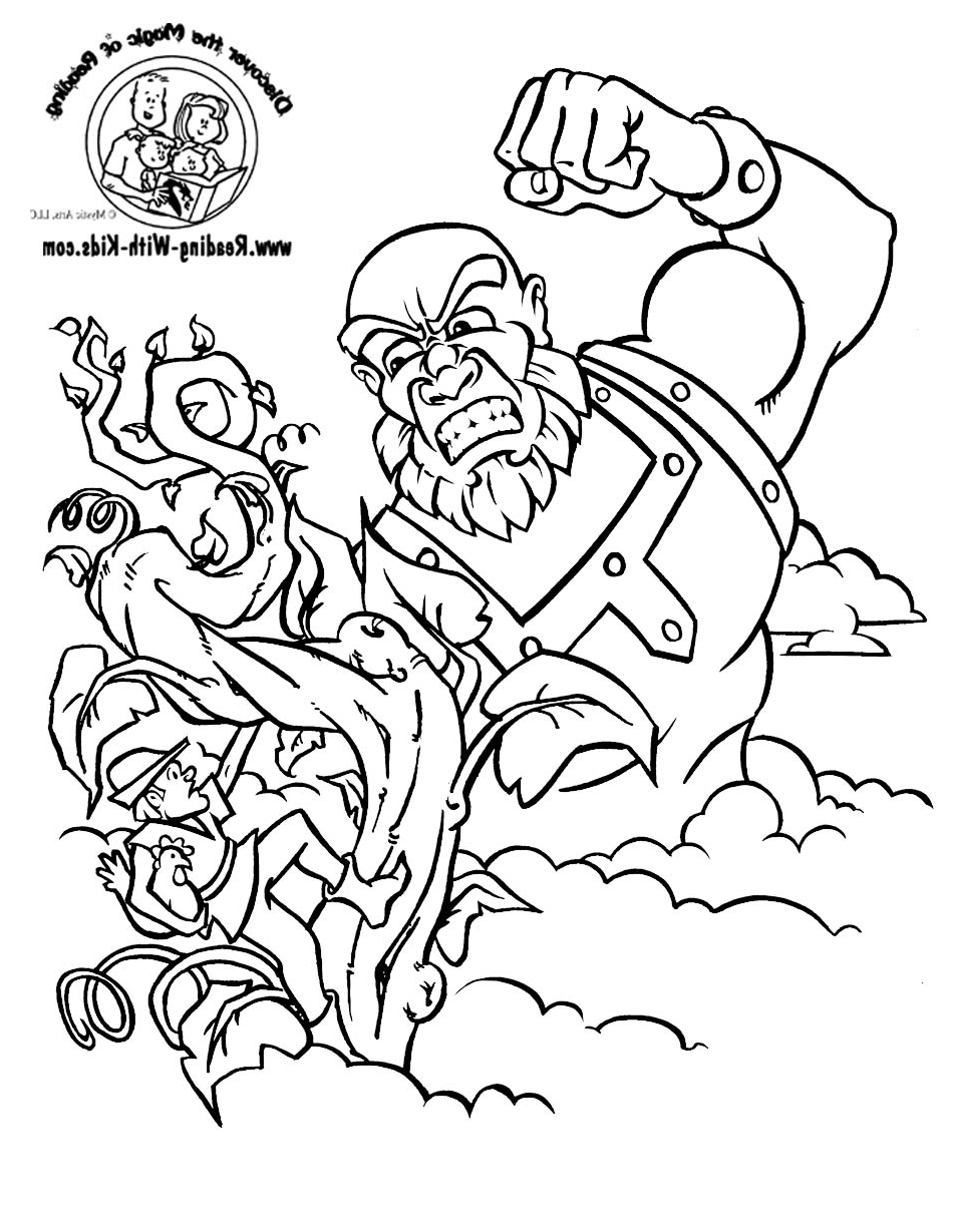 jack and the beanstalk colouring pictures jack and the beanstalk coloring worksheet educationcom the beanstalk and pictures colouring jack