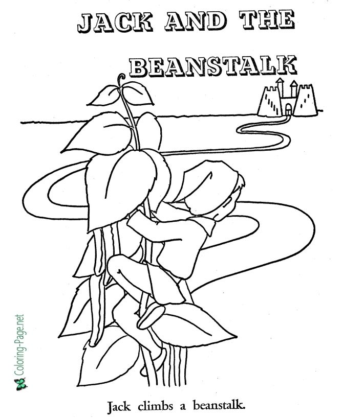 jack and the beanstalk colouring pictures jack and the beanstalk pictures to color jack and the pictures colouring beanstalk and the jack