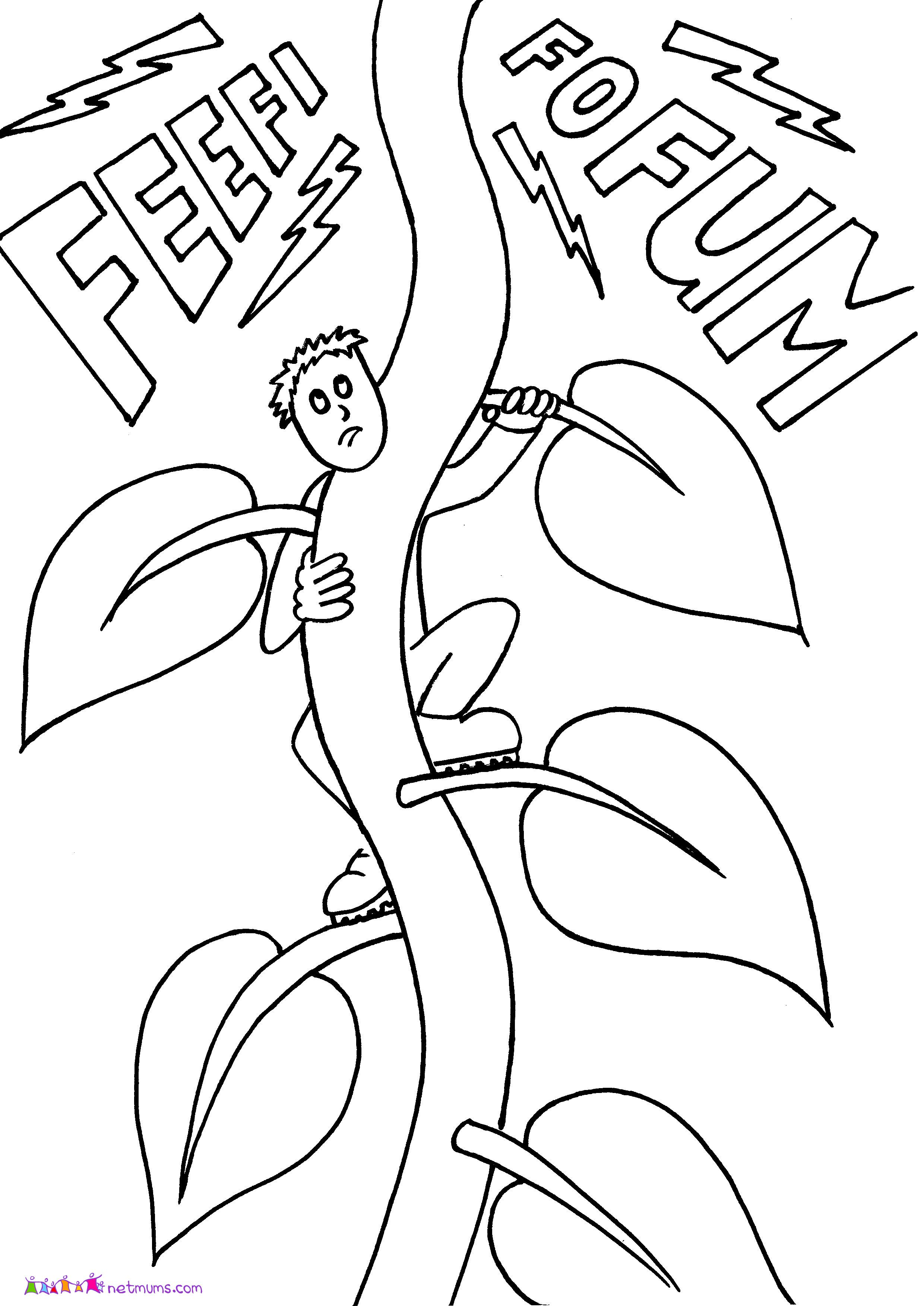 jack and the beanstalk colouring pictures jack beanstalk coloring pages pictures colouring the and beanstalk jack