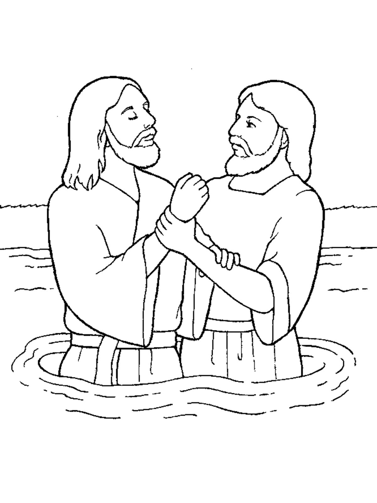 john baptizes jesus coloring page the best free baptized coloring page images download from page baptizes jesus john coloring
