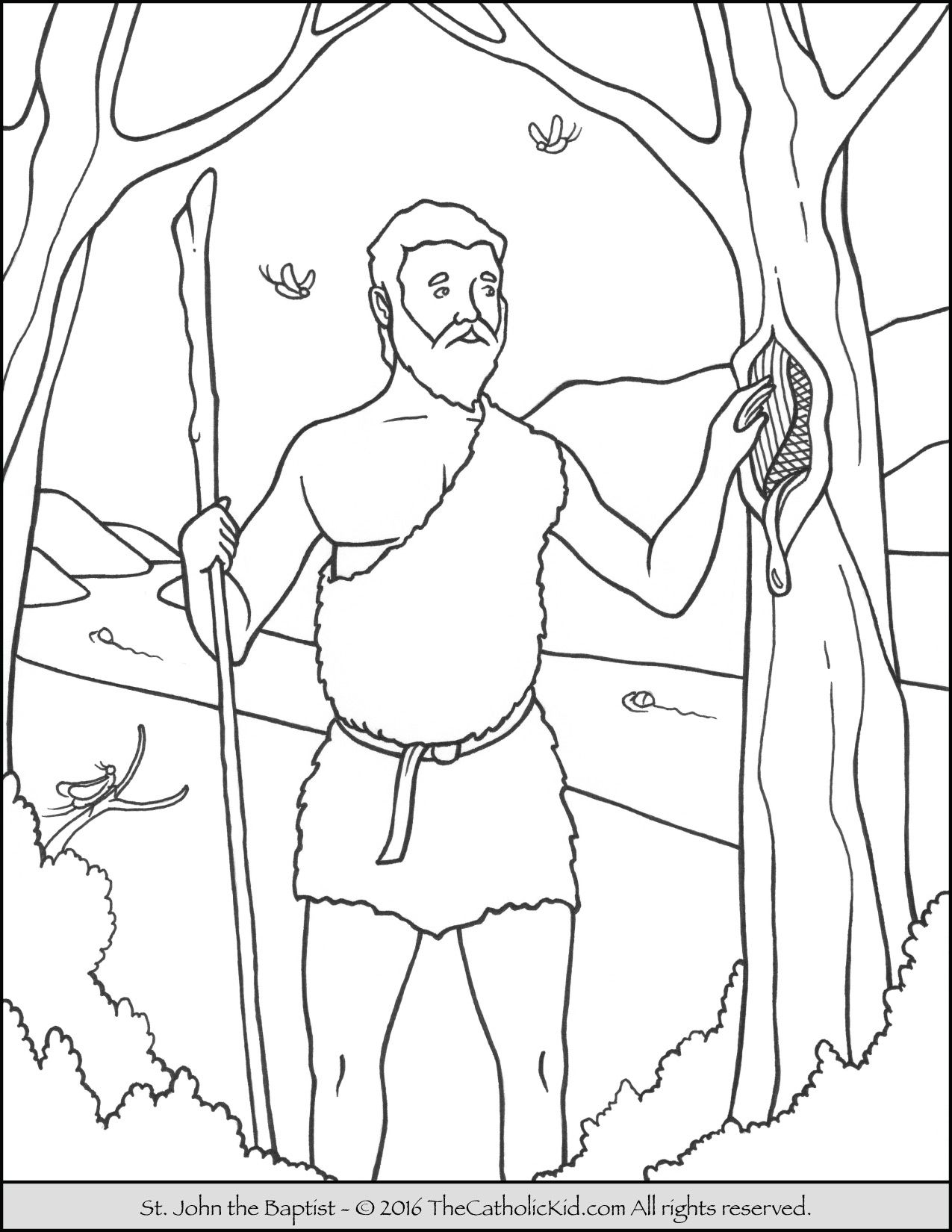 john the baptist coloring pages printable cartoon of john the baptist coloring page netart baptist the coloring john printable pages