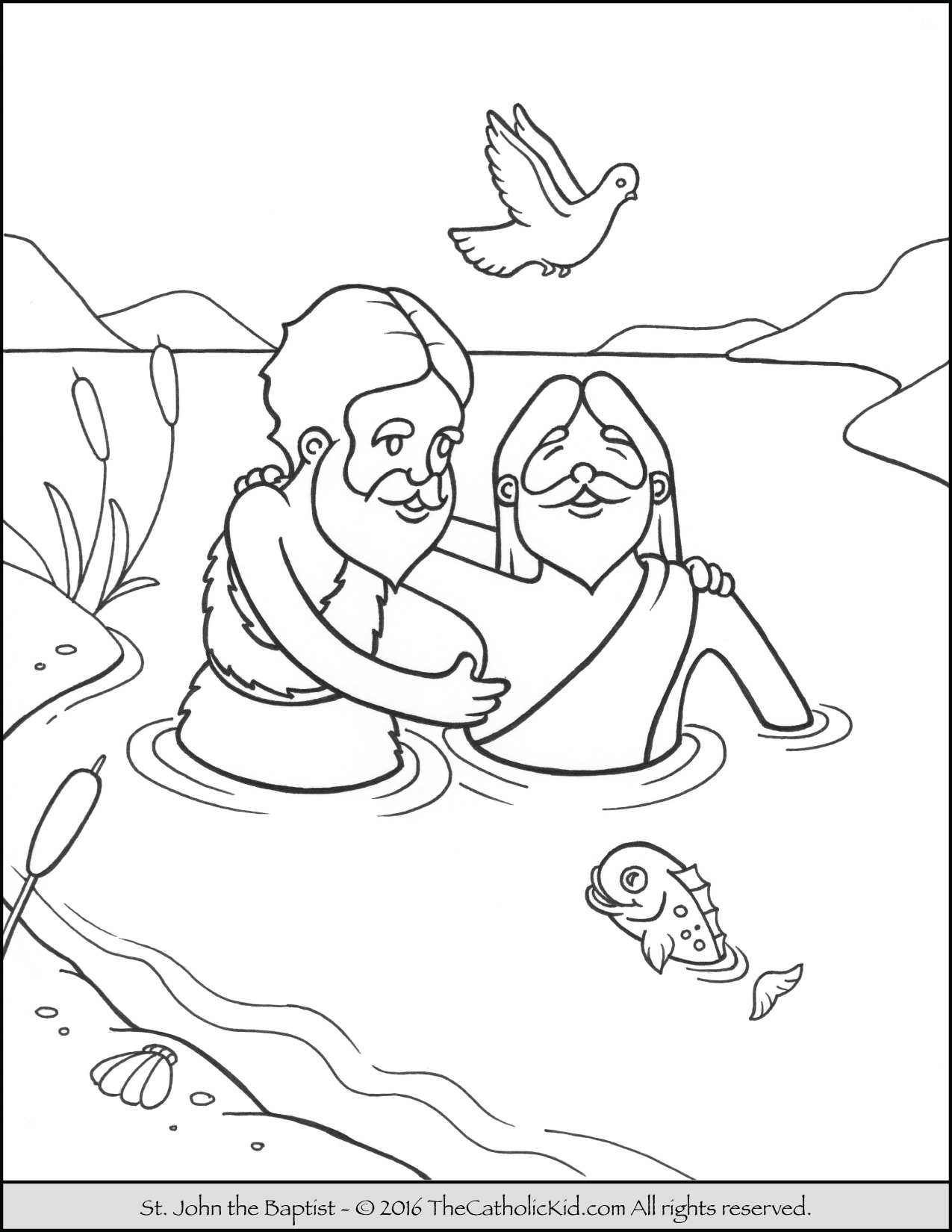 john the baptist coloring pages printable holy spirit came down in john the baptist coloring page john printable coloring pages the baptist