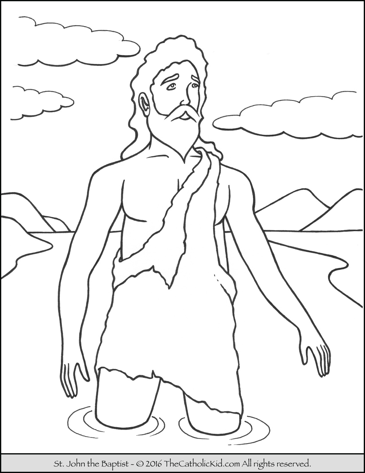 john the baptist coloring pages printable superb john the baptist coloring pages for kids with pages printable baptist the john coloring