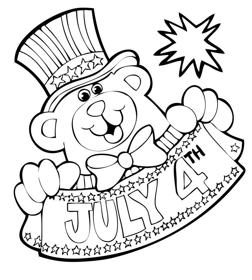 july 4 coloring pages fourth of july coloring pages 4 july coloring pages