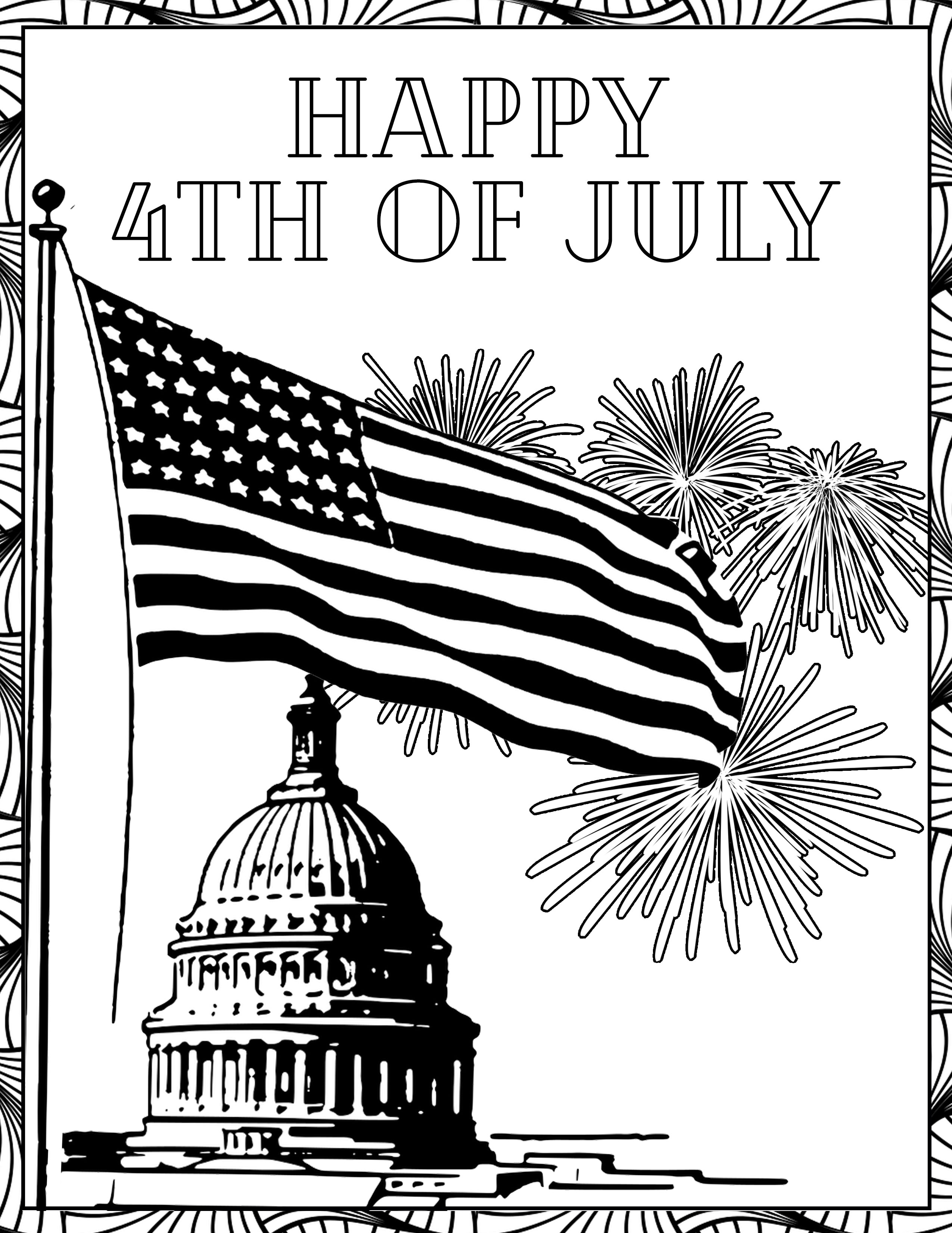 july 4 coloring pages free 4th of july coloring pages tuxedo cats and coffee pages coloring july 4
