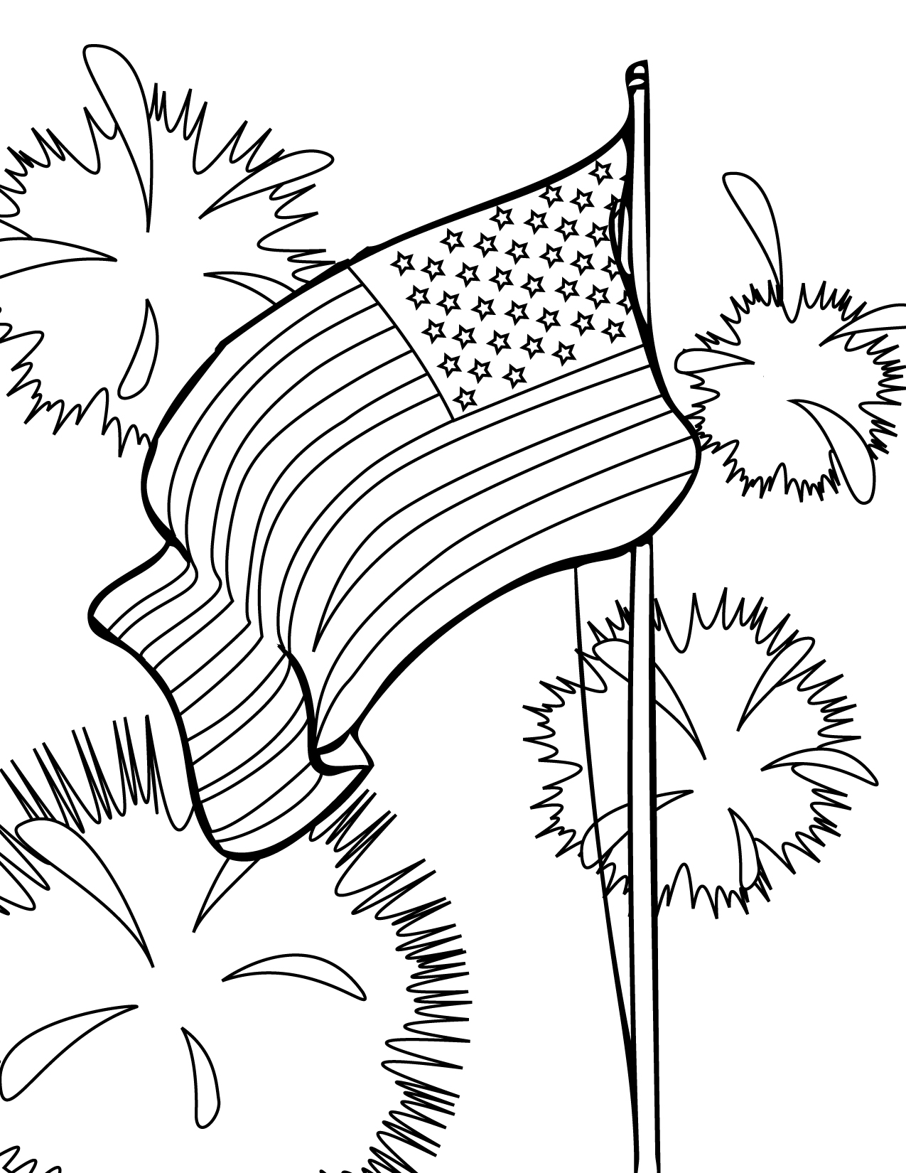july 4 coloring pages free printable fourth of july coloring pages 4 designs 4 pages july coloring