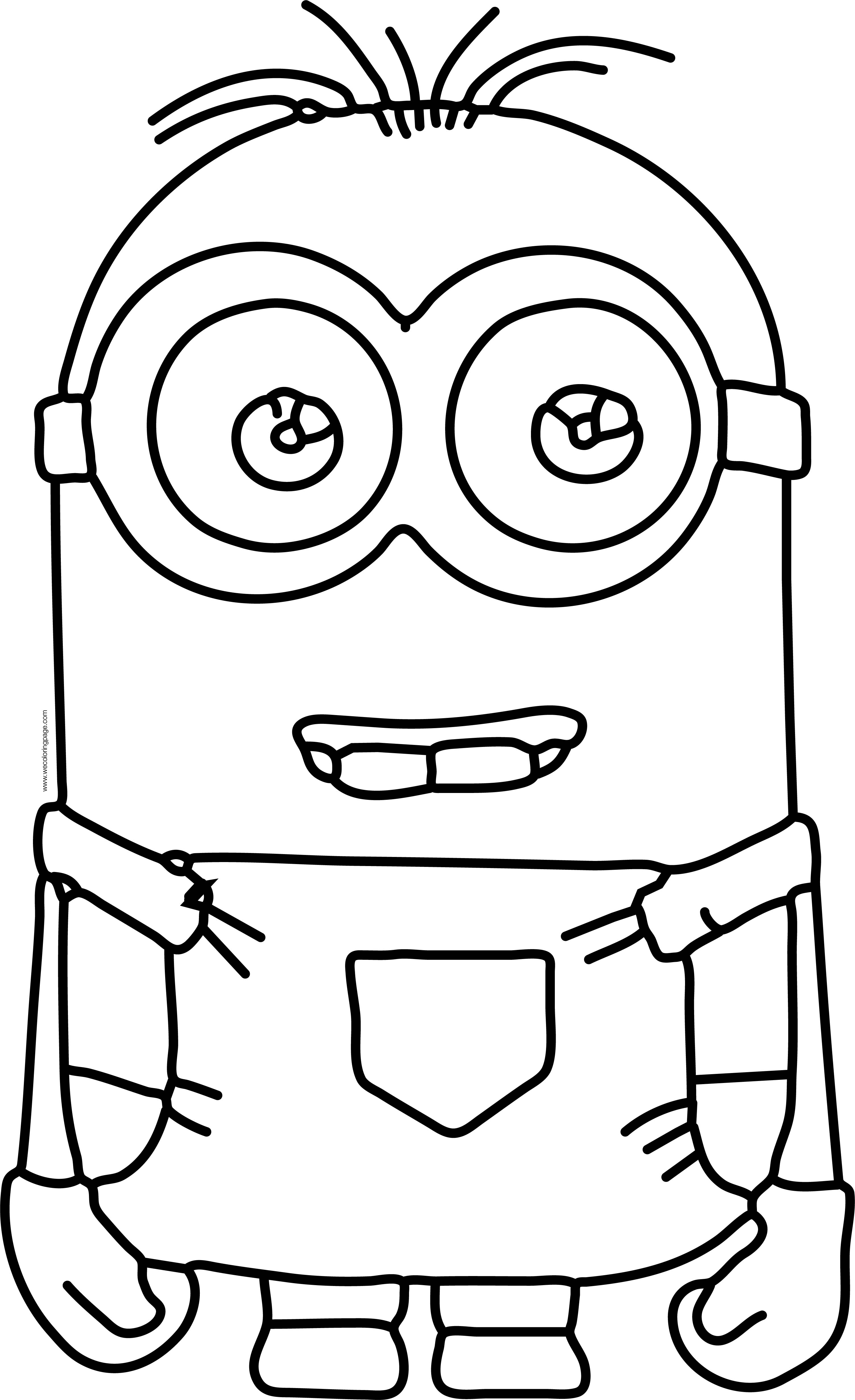 kevin minion free printable kevin minion coloring pages kevin minion 1 1