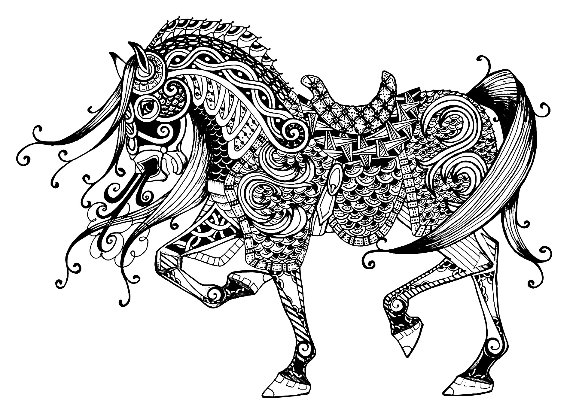 kids horse coloring pages horse free to color for kids trotting horse with complex coloring horse pages kids