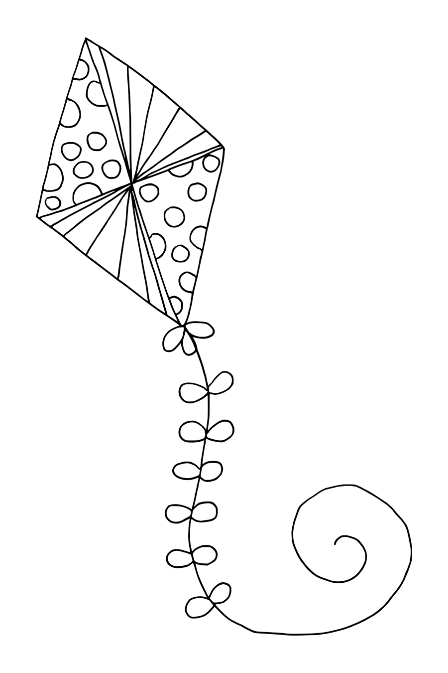 kite for coloring free printable kite coloring pages for kids for coloring kite 1 1