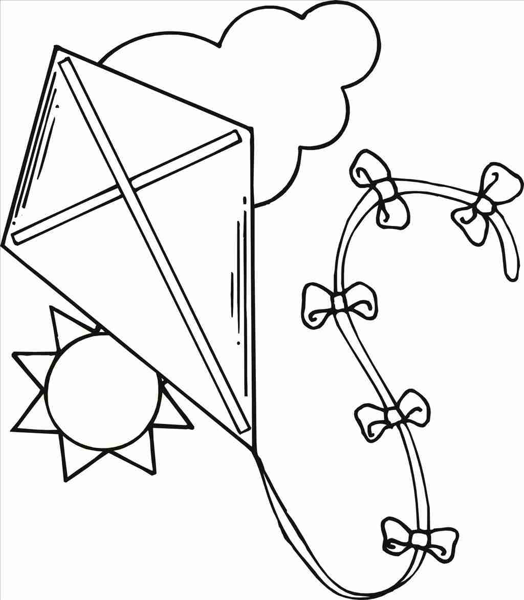 kite for coloring kite coloring pages free large images for coloring kite