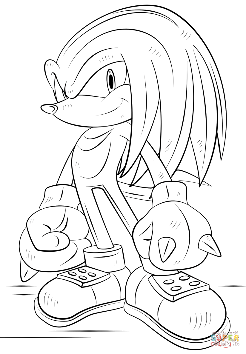 knuckles coloring pages sonic coloring pages knuckles coloring home pages coloring knuckles