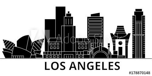 la skyline outline free art print of cartoon los angeles skyline cartoon skyline la outline