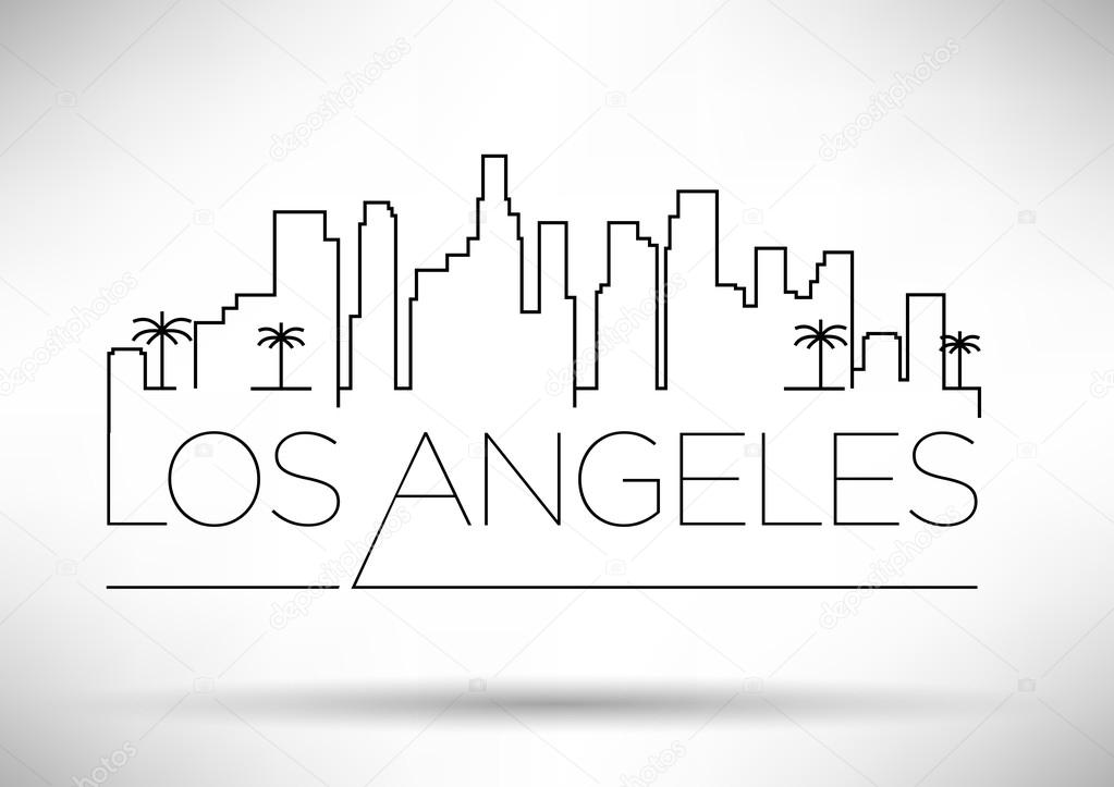 la skyline outline hulk vector at getdrawings free download la skyline outline