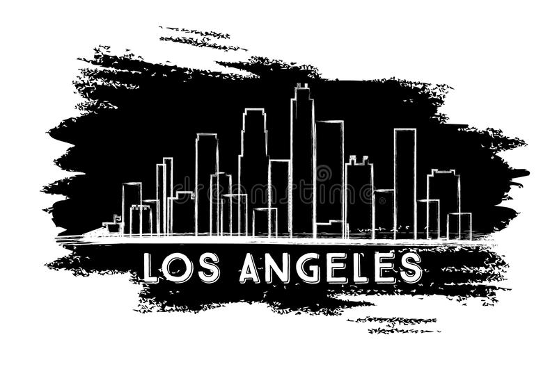la skyline outline los angeles city line silhouette stock vector outline skyline la