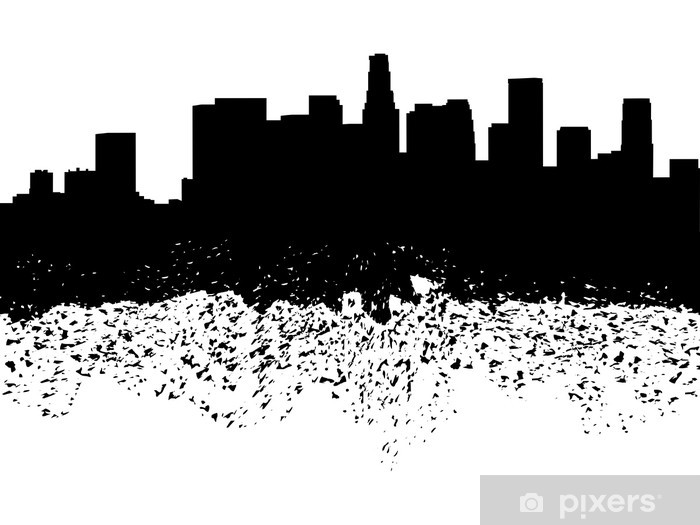 la skyline outline los angeles city skyline silhouette illustrations skyline outline la