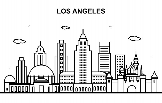 la skyline outline los angeles skyline free svg vector file skyline outline la