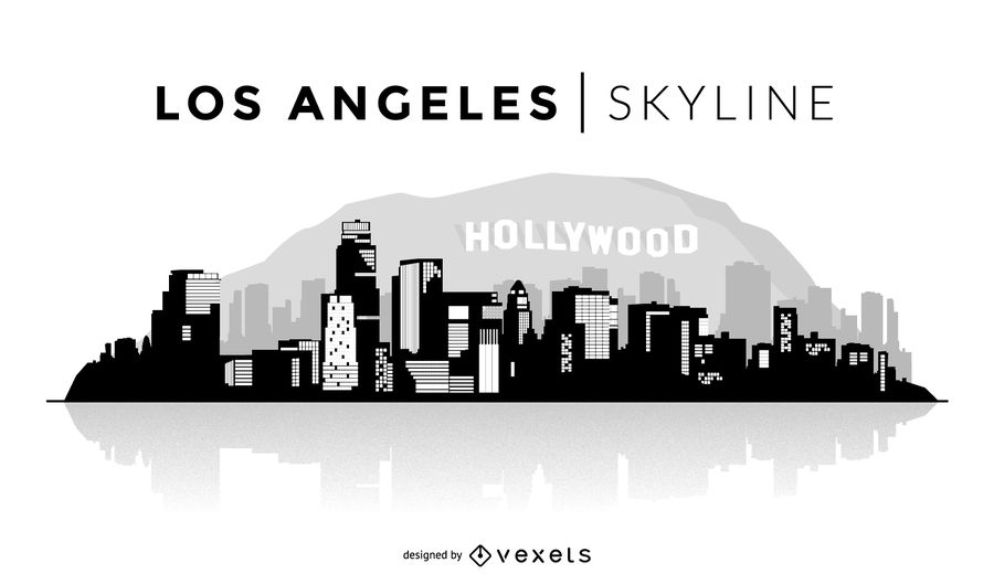 la skyline outline los angeles skyline illustration skyline la outline