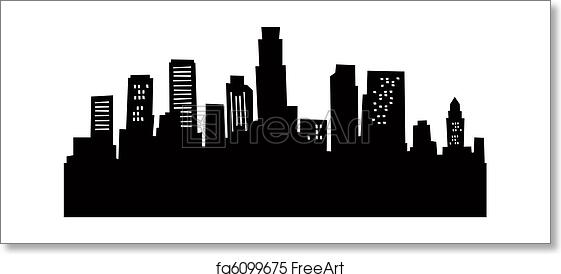 la skyline outline los angeles skyline illustration vector download skyline outline la