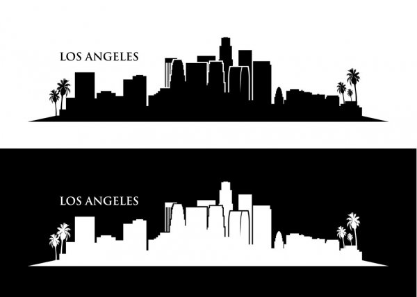la skyline outline los angeles skyline outline production design fbe skyline outline la