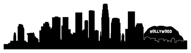 la skyline outline los angeles skyline outline silhouette vector svg eps jpg skyline outline la