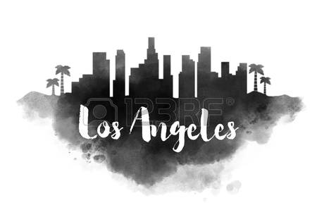 la skyline outline los angeles skyline silhouette free vector silhouettes outline skyline la