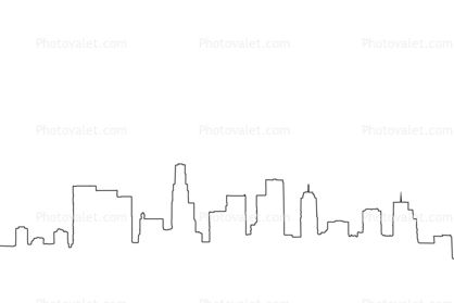 la skyline outline los angeles skyline silhouette hand drawn sketch stock la outline skyline