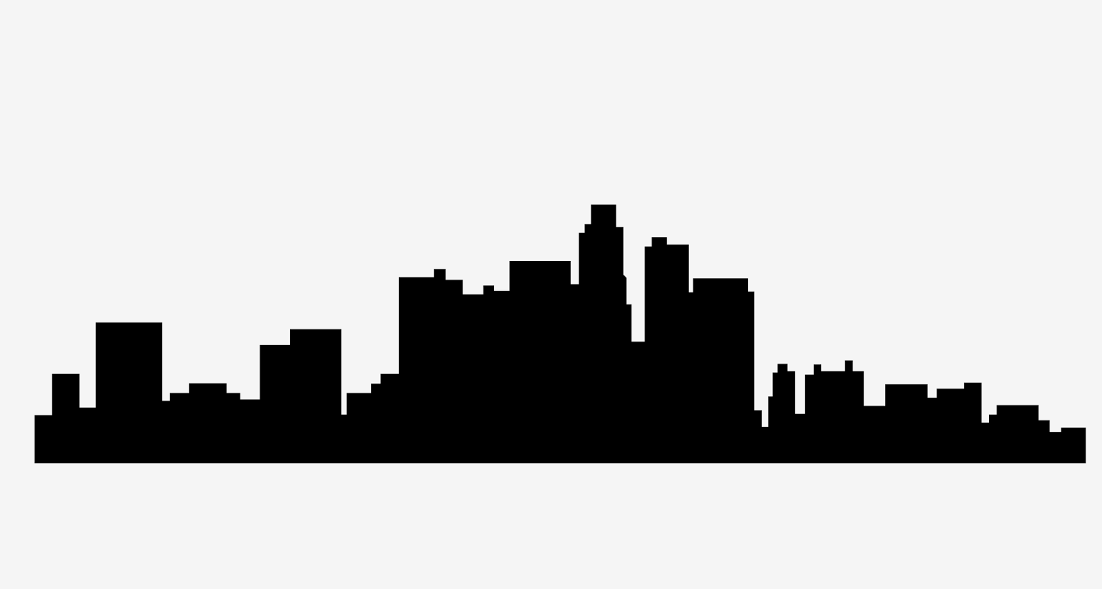 la skyline outline los angeles skyline silhouette wall decal modern wall outline la skyline