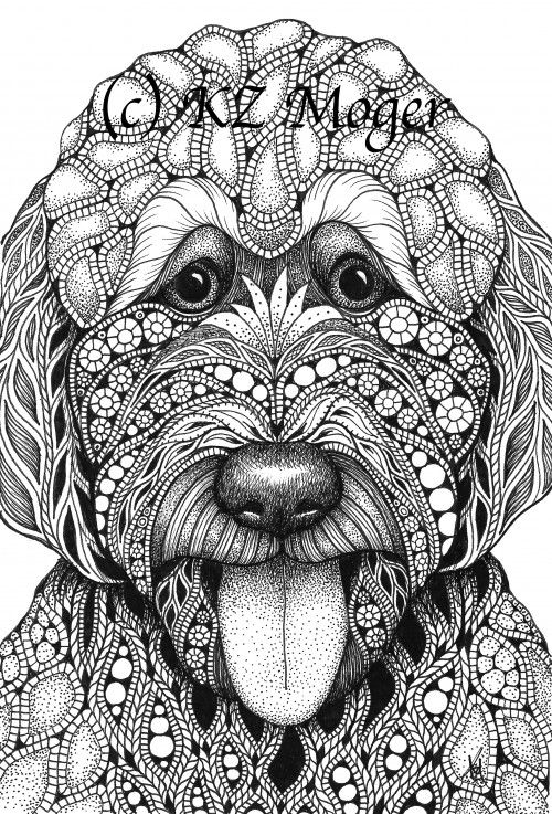 large animal coloring pages items similar to large breed dog portraits more large large pages animal coloring