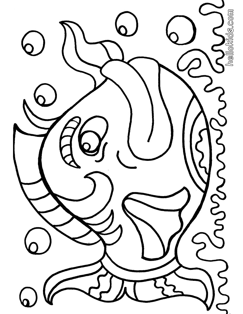 large fish coloring page fish line drawing free download on clipartmag fish coloring page large