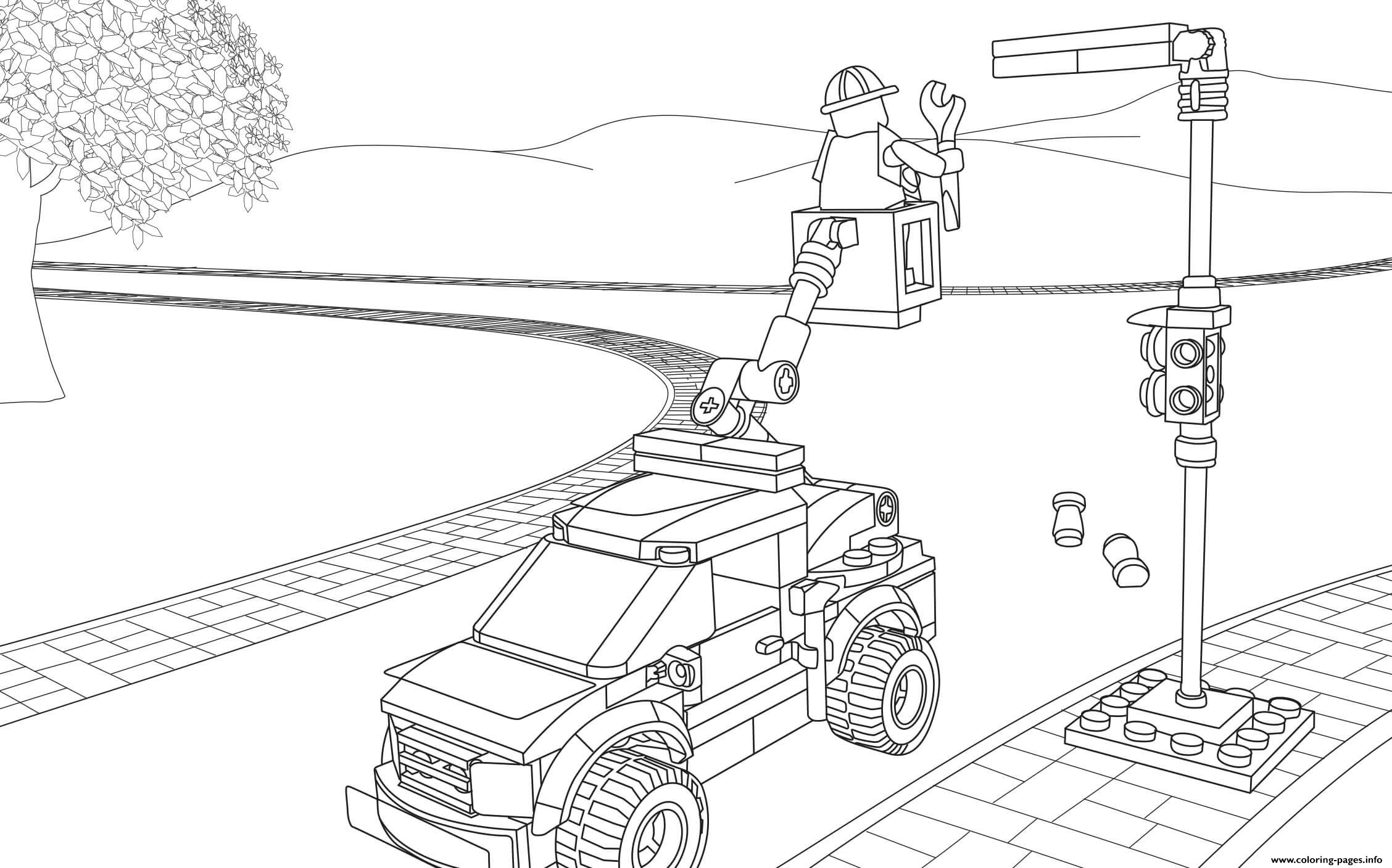 lego truck coloring pages lego city light repair truck coloring pages printable lego coloring truck pages