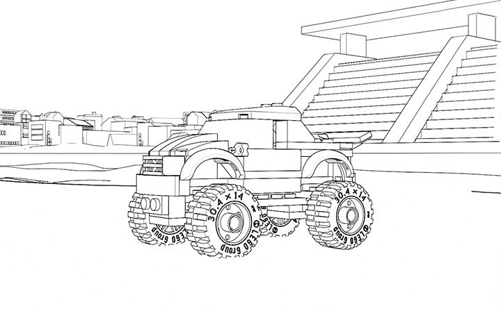 lego truck coloring pages lego coloring sheet 60055 monster truck lego coloring pages truck coloring lego