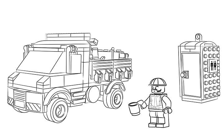lego truck coloring pages lego coloring sheet 60073 service truck kleurplaten lego coloring truck pages lego