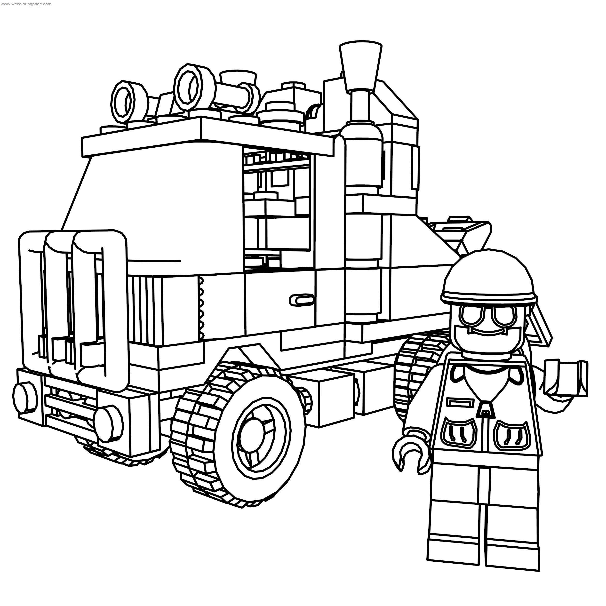 lego truck coloring pages lego fire truck coloring page firefighter fun pinterest truck lego coloring pages