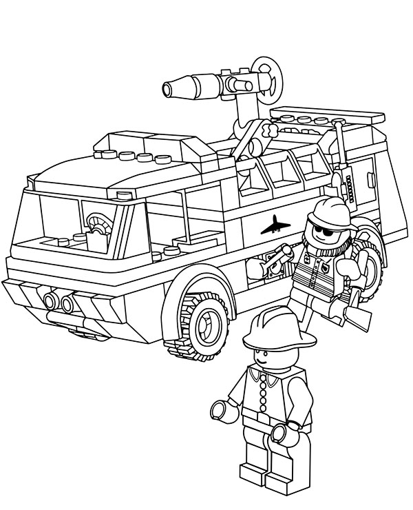 lego truck coloring pages lego fire truck coloring page free printable coloring pages coloring truck pages lego