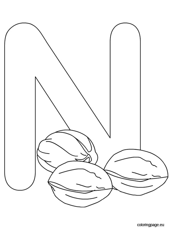 letter n coloring sheet letter n drawing at getdrawings free download coloring letter n sheet
