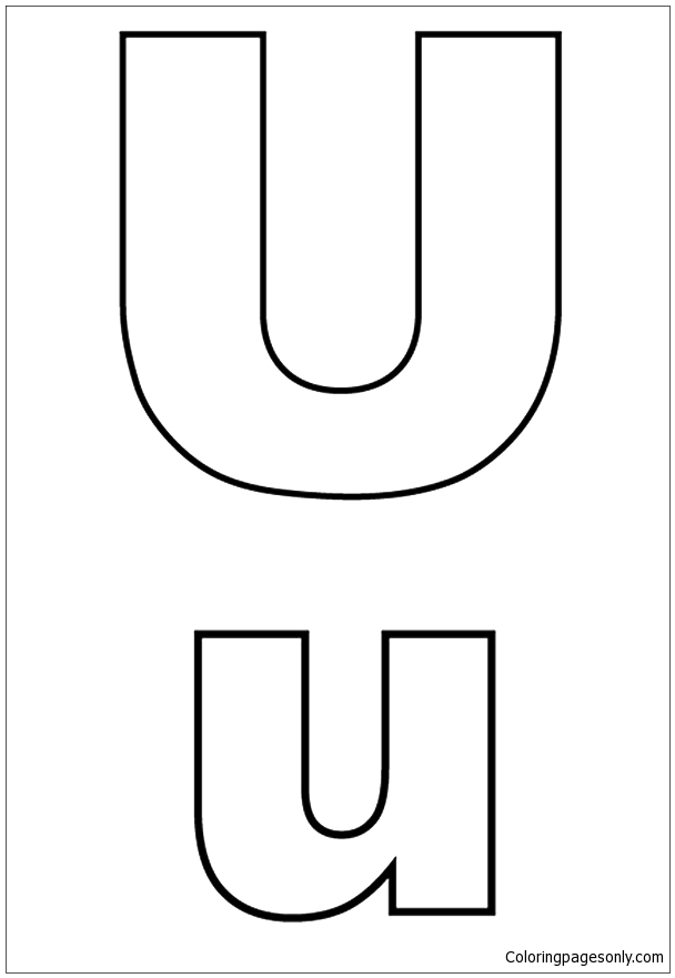 letter u coloring capital and small letter u coloring page free coloring letter coloring u