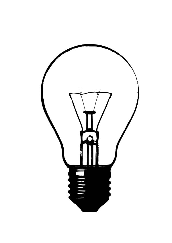 light bulb printable incandescent light bulb coloring pages download print light bulb printable
