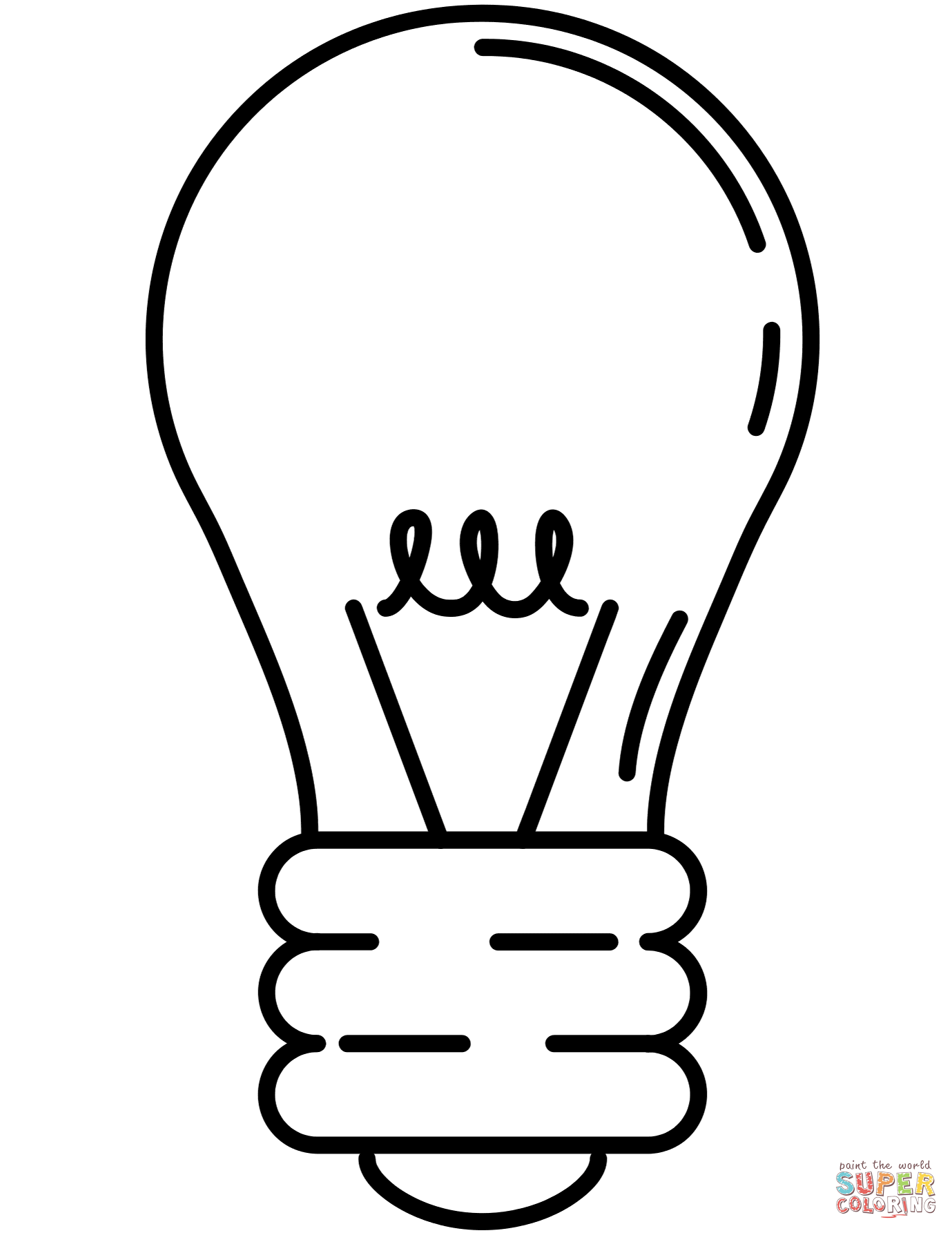 light bulb printable light bulb coloring pages clipart best light bulb printable