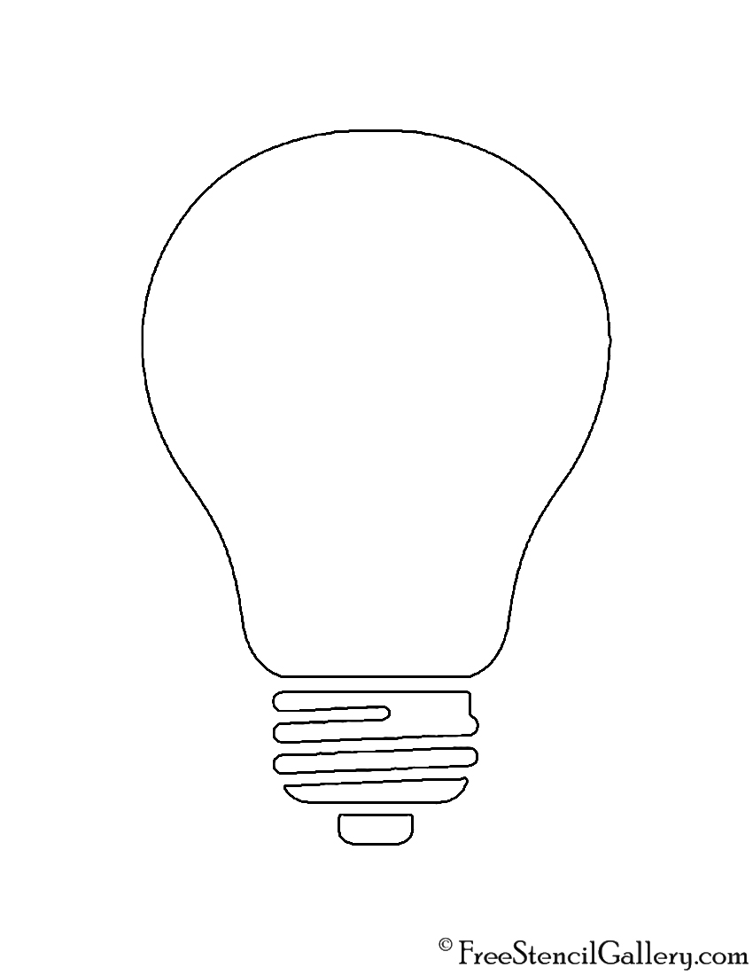 light bulb printable light bulb drawing at getdrawings free download bulb printable light