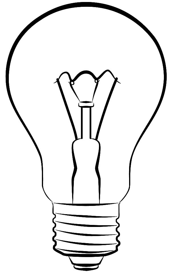 light bulb printable light bulb picture coloring pages download print light bulb printable