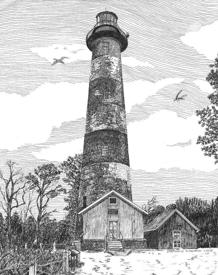 lighthouse drawing cape meares lighthouse drawing by lawrence tripoli drawing lighthouse