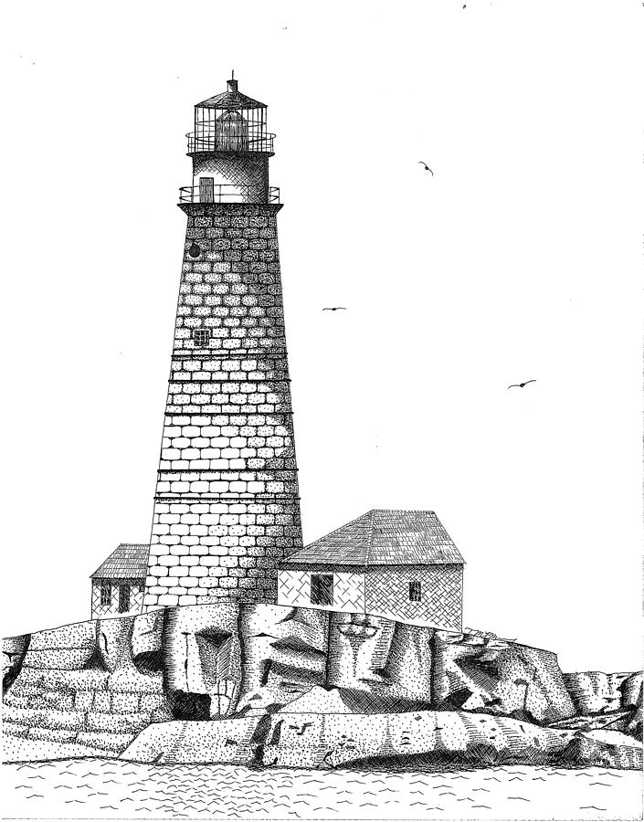 lighthouse drawing drawn lighthouse cartoon pencil and in color drawn drawing lighthouse
