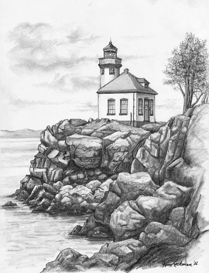 lighthouse drawing lighthouse computer drawing photograph by marv vandehey drawing lighthouse