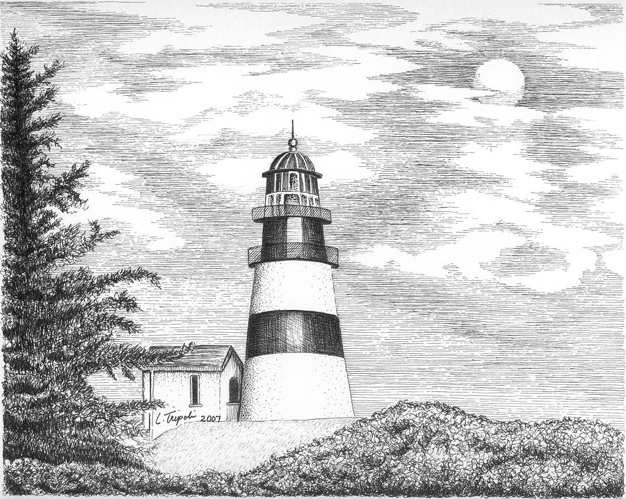 lighthouse drawing lime kiln lighthouse drawing by kim lockman drawing lighthouse