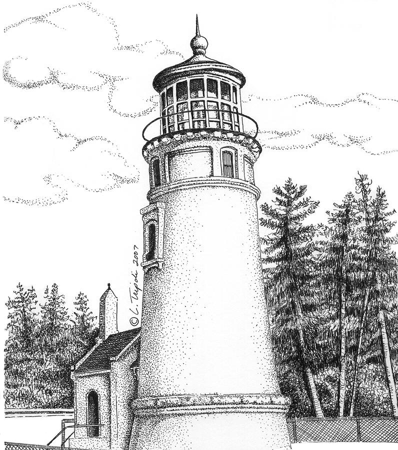 lighthouse drawing north head lighthouse drawing by lawrence tripoli lighthouse drawing
