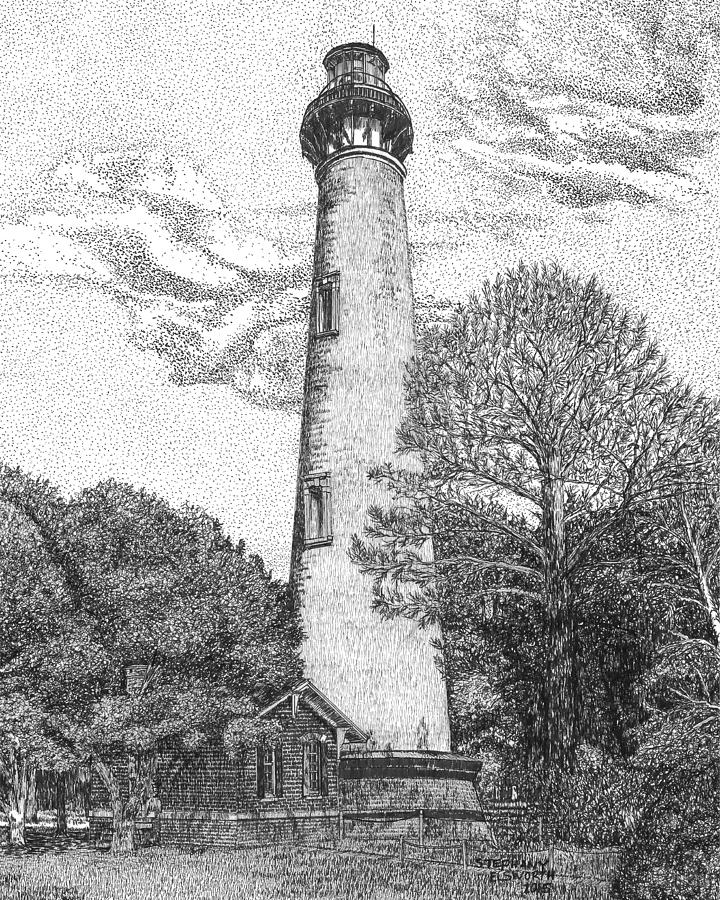 lighthouse drawing the lighthouse drawing by bobby shaw drawing lighthouse