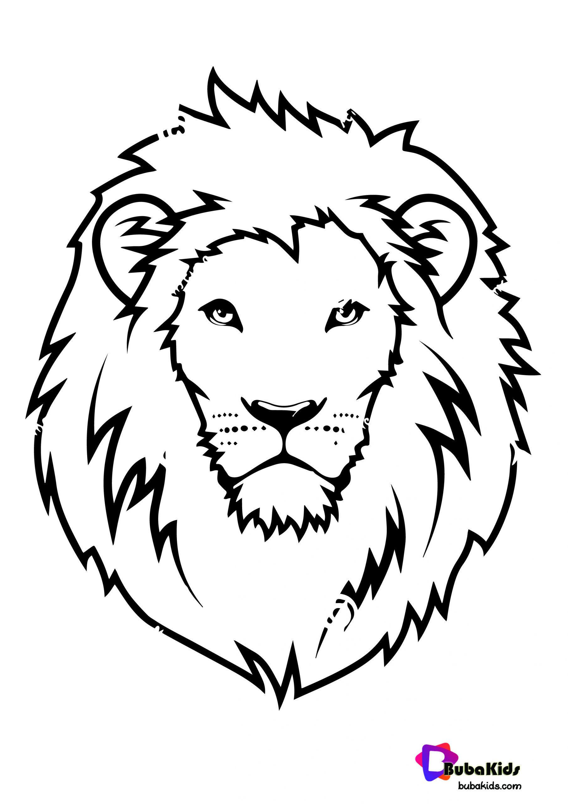 lion face coloring page lion face coloring page bubakidscom face coloring lion page