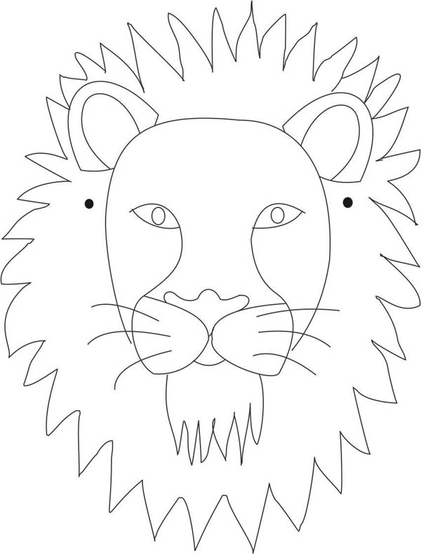 lion face coloring page lion face coloring pages getcoloringpagescom lion face page coloring