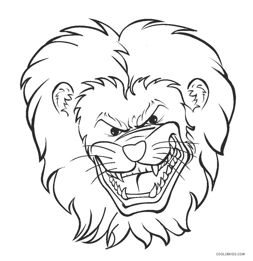 lion face coloring page lion face coloring pages getcoloringpagescom page lion face coloring
